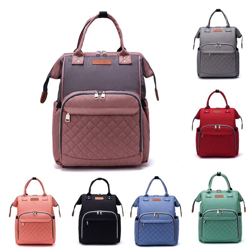 Lequeen Mummy Bag Diaper Backpack Large Capacity Travel Nursing Bag Multiple  Portable Nappy Bag For Baby Stroller