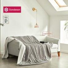 Sondeson модное серое теплое одеяло волшебное флисовое пододеяльник