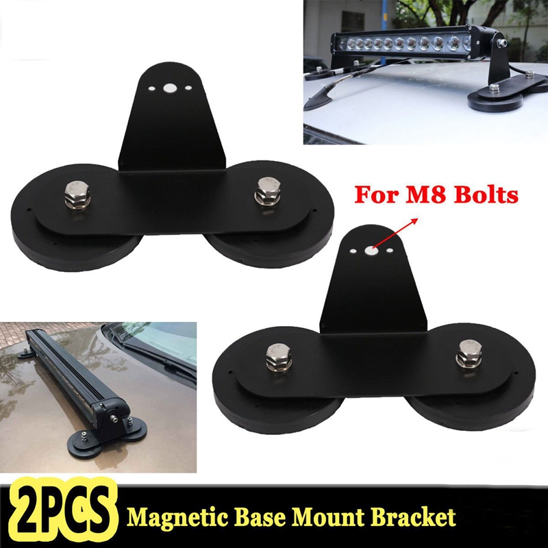 2Pcs Strong Magnetic Base Mount Bracket Holder Roof LED Work Light Bar Offroad 4X4