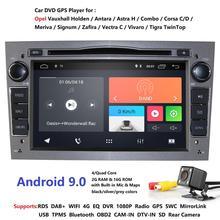 Hizpo Quad-Core 2 DIN RAM: 2GB Android 9.0 Mobil Dvd Player untuk Opel Astra H Vectra Corsa Zafira B C G Mobil GPS Radio stereo 4 Gwifi