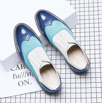 Men Vintage Casual Leather Brogue Shoes Lace Up Casual Shoes Dress Shoes Brogue Shoes Spring  Classic Male Casual F108 sipriks luxury patina leather dress shoes for men vintage business offfice shoes boss work shoes male brogue oxfords shoes new