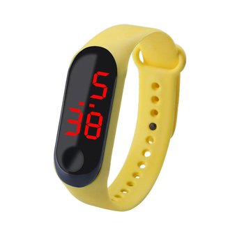 цена Led Digital Watch Light Touch Screen Wristwatch for Kids Electronic Watch Led Casual Fashion Men And Women Sport Bracelet онлайн в 2017 году
