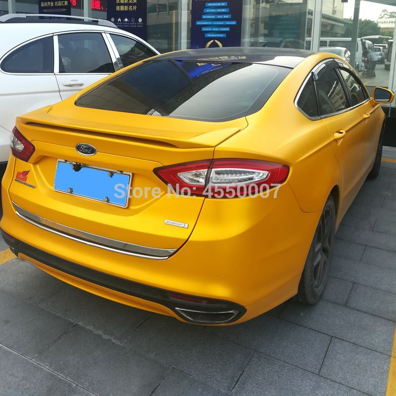 UBUYUWANT For Ford Mondeo 2013 2014 2015 2016 2017 ABS Plastic Material Rear Wing Spoiler for Ford Mondeo