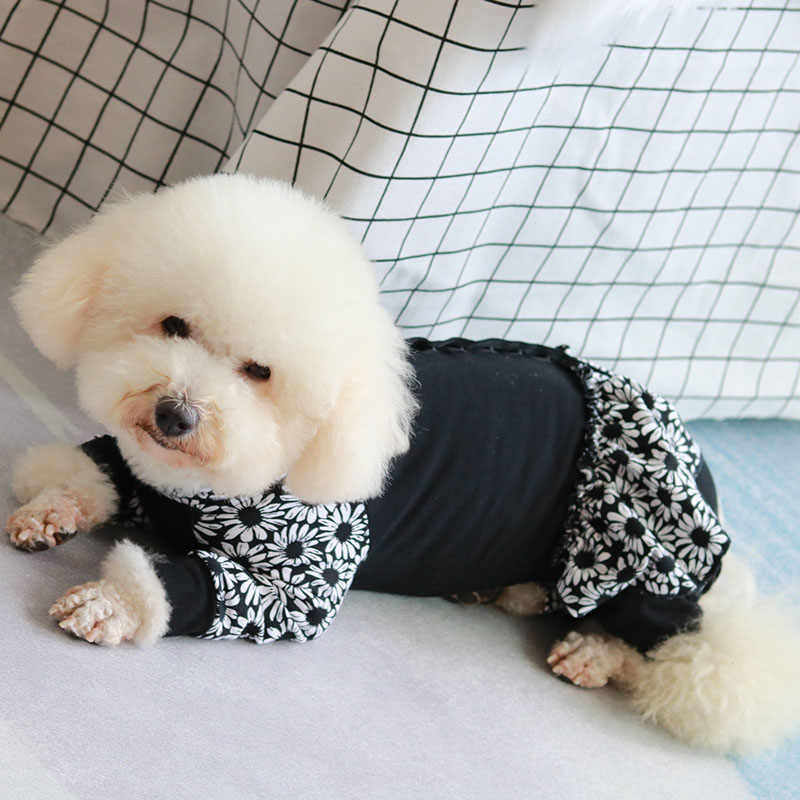 Kombinezon dla psa Puppy kombinezony ubrania elastyczny bawełniany ochraniacz brzuch piżamy dla małych psów bluza garnitur Chihuahua pudel mops