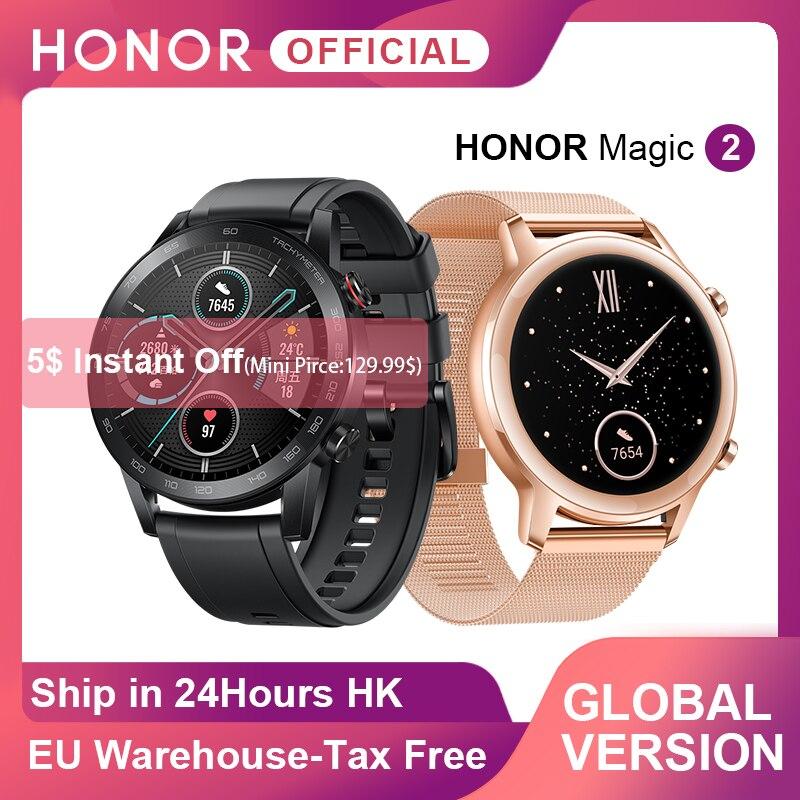 10482.73руб. 33% СКИДКА|В наличии глобальная версия Honor Magic Watch 2 умные часы Bluetooth 5,1 умные часы 14 дней водонепроницаемые спортивные часы для Android iOS|Смарт-часы| |  - AliExpress