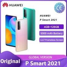 Huawei P Smart 2021 Globale Version 4GB RAM 128GB 5000 mAh Batterie 6,67 Rahmenlose Bildschirm 48 MP Quad kamera Смартфоны телефон