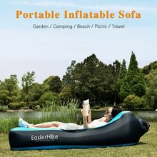 Portable Inflatable Recliner Double Deck Thickened Outdoor Lazy Air Sofa Bed Waterproof Beach Camping Garden Leisure Air Cushion