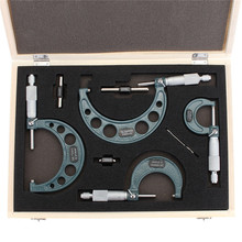 Micrometer-Set Machinist-Tool Outside 0-100mm 4-Precision 4pcs Accuracy Carbide 0-4-