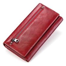 Модный женский кошелек, Женский кошелек из натуральной кожи, дизайнерский женский кошелек, сумка для денег, сумочка, чехол, карман для телефона, Carteira Feminina