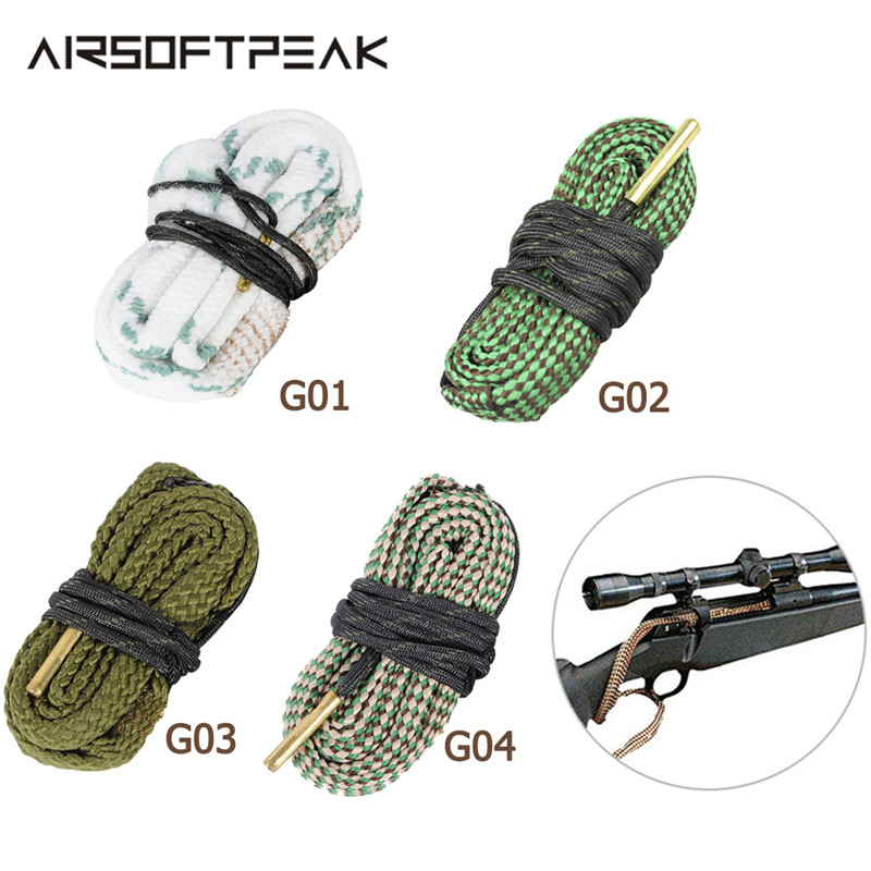 Охота набор для чистки пистолета 12GA Gague НАТО латунь винтовка/пистолет Очиститель для ружья веревки Чистка ствола винтовки Наборы для съемки...