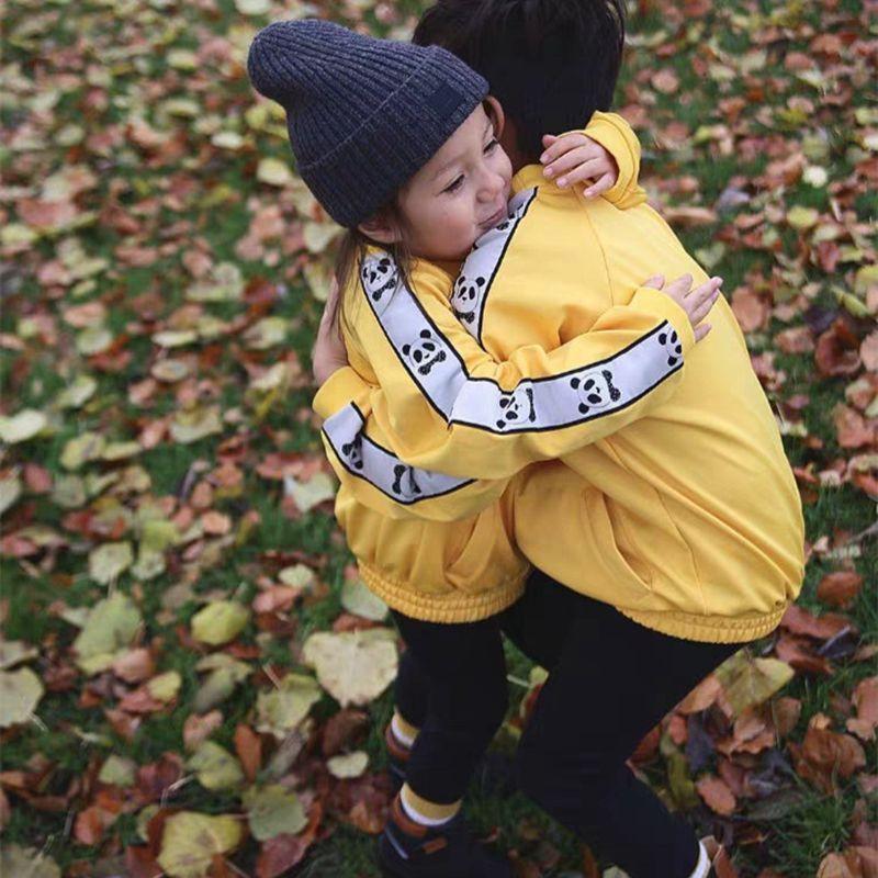 1-9Years Princess Kids Baby Girls Boys Panda Print Jacket Button Coat Outerwear Tops Clothes 1