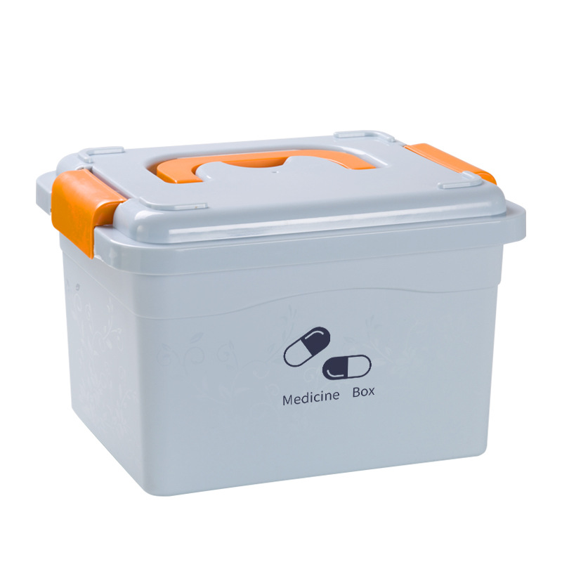 Multi-layered Large Family First Aid Kit Box Medicine Medical Storage Box Medical Plastic Drug Gathering Organizer Boxes