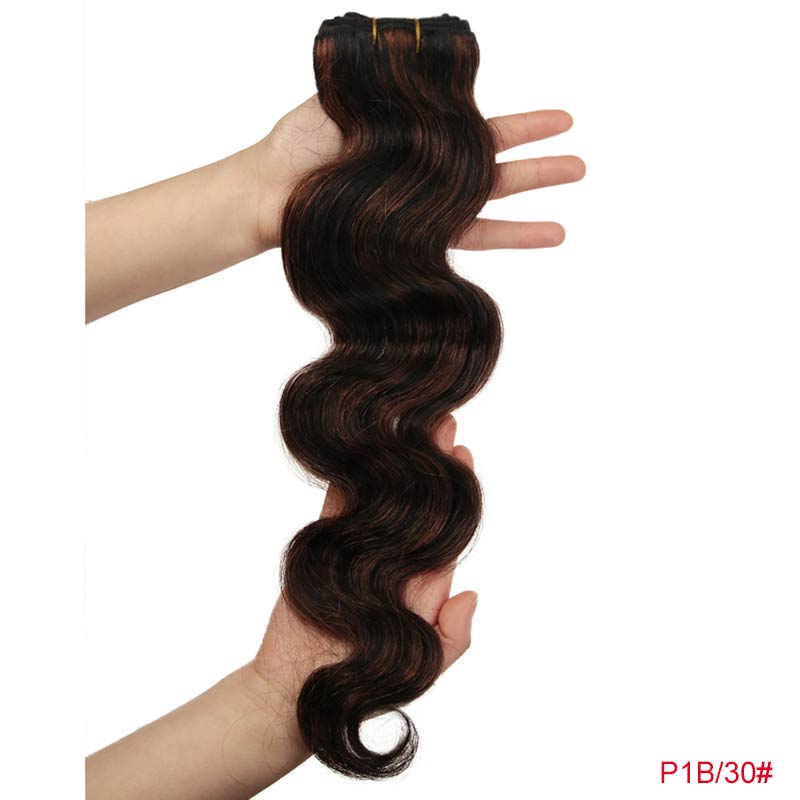 Rebecca Hair Brazilian Natural Body Wave Hair 1 Bundle Colored #P1B/30 #P4/27 #P4/30 #P6/27 Remy Human Hair Extension 10-26 Inch