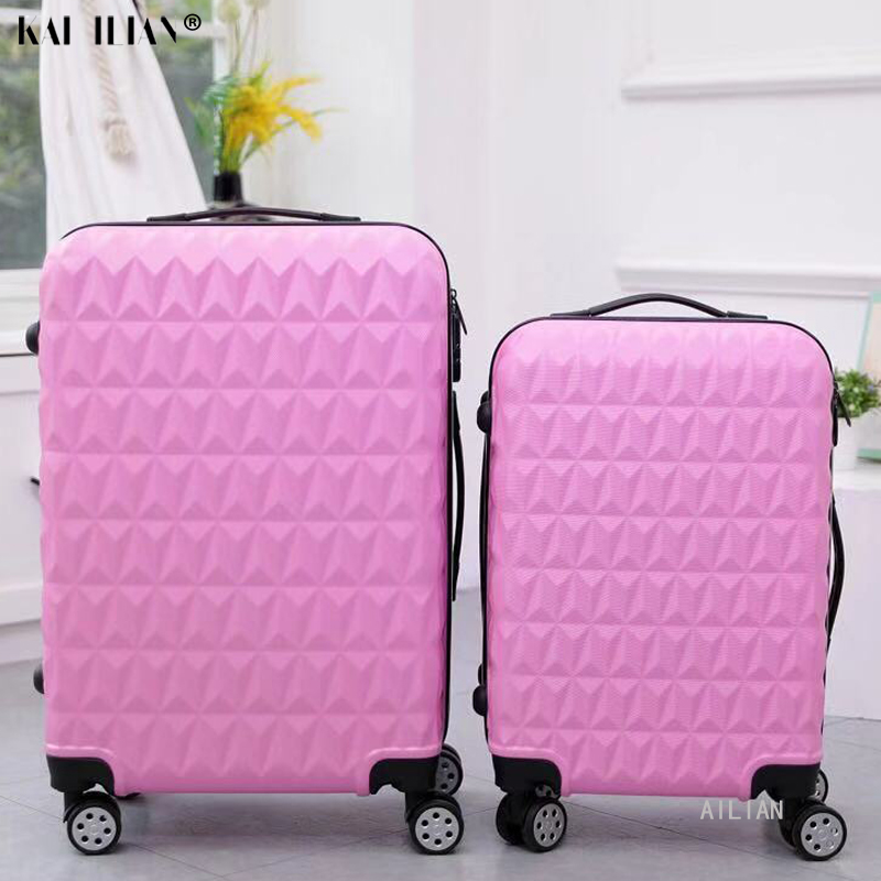 ABS+PC 20''24 Inch Suitcase On Wheels Travel Rolling Luggage Cabin Carry Ons Trolley Luggage 28'' Big Bag Fashion Women Suitcase