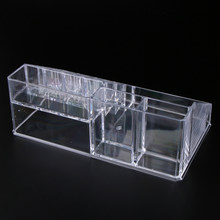 Transparent Acrylic Jewelry Display Makeup Lipstick Brushes Pen Cosmetic Organizer Box Room Organizer Rack(China)