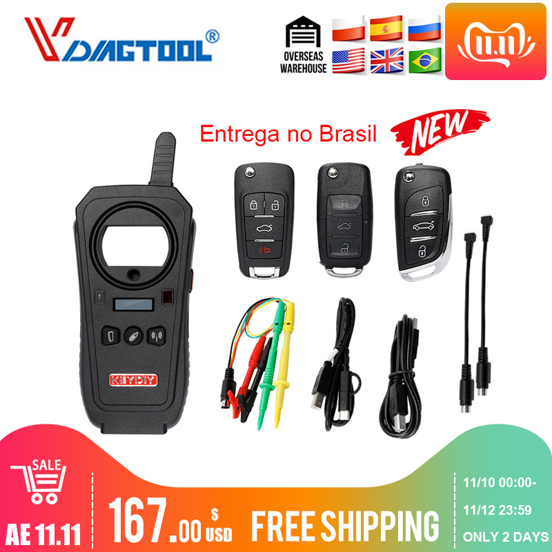 Vdiagtool KEYDIY KD-X2 Car Key Garage Door Remote Kd X2 Generater/Chip Reader/Frequency  With 96bit 48 Transponder Copy Function