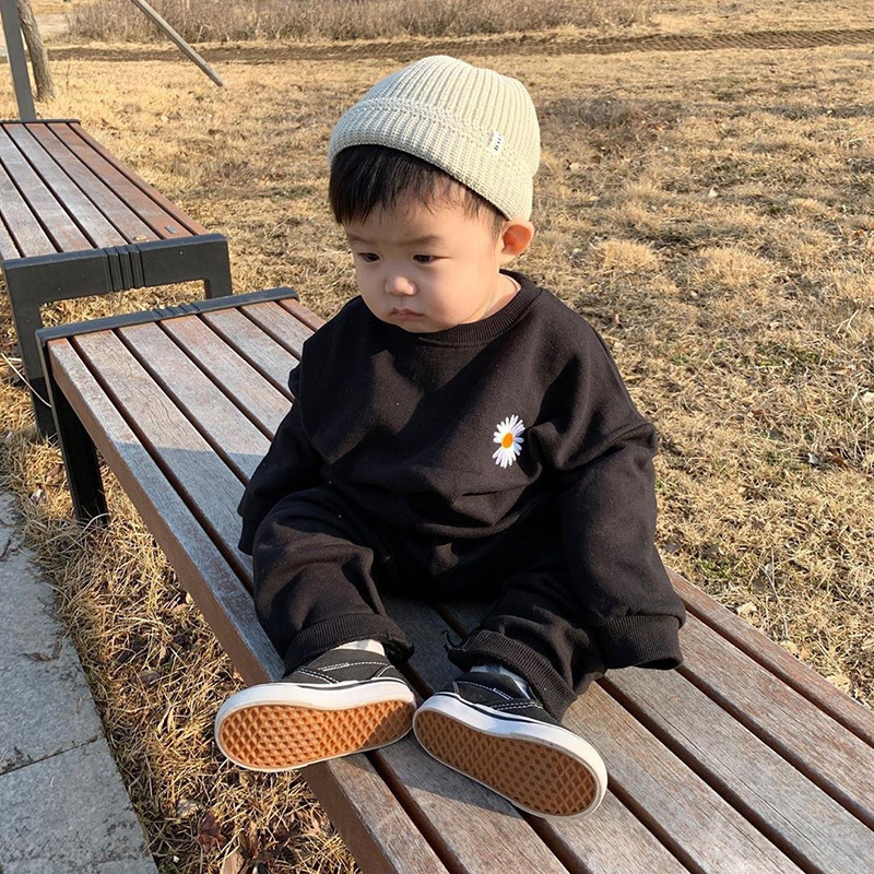 MILANCEL spring new baby clothing set daisy embroidery baby boys sports suits fashion girls outfit