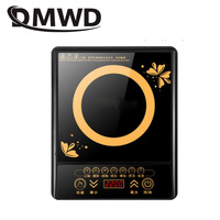 DMWD Electric Magnetic Induction Cooker Household Waterproof Small Hot Pot Heating Stove Touchpad Stir fry Dish Cooking Oven EU