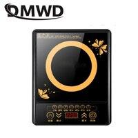 DMWD elektryczny magnetyczny kuchenka indukcyjna gospodarstwa domowego wodoodporny mały gorący kociołek piec grzewczy Touchpad Stir fry danie piekarnik ue w Kuchenki indukcyjne od AGD na