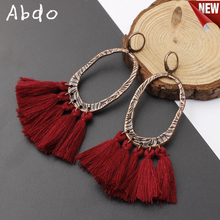 Tassel Earrings Shining Fashion For Women Boho Water Drop Earring Handmade Big Drop Dangle Round Jewelry Party Gift Statement цена 2017