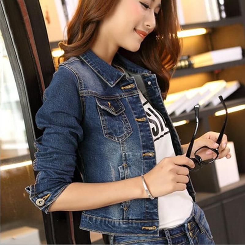 Новая Осенняя Женская Базовая куртка с длинным рукавом, джинсовая куртка с отложным воротником, Свободные повседневные Модные женские