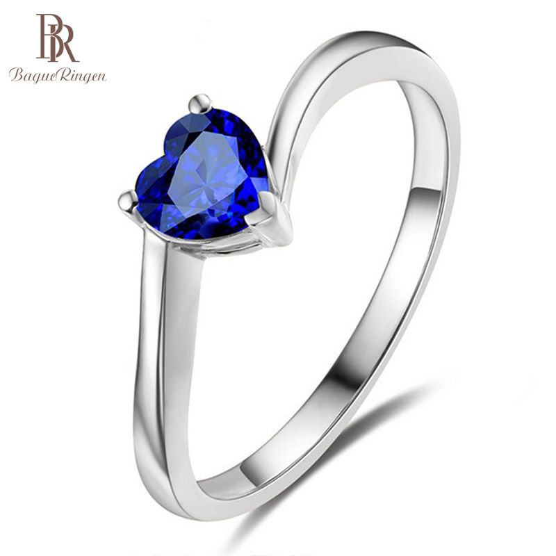 Bague Ringen New Design Ring 925 Jewelry Simple Eight Hearts Eight Arrows Sapphire Valentine Anniversary Gifts For Women Party