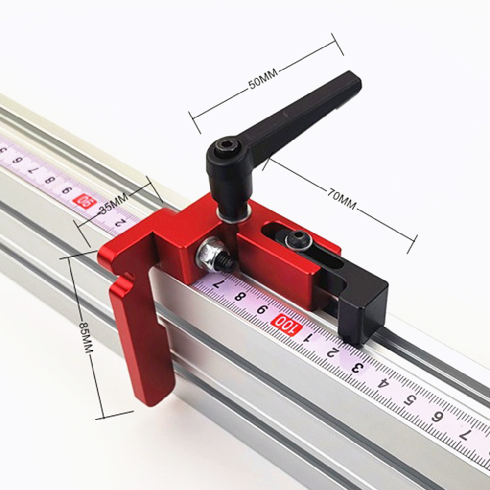75 Type Accurate Carpentry Slide Router Table Limiter DIY Aluminum Alloy T Slot Miter Track Stop Woodworking Tool Fixed Retainer