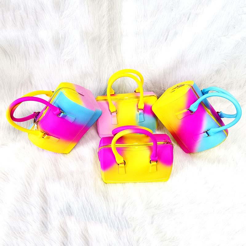 GW 2020 Summer Hot Sale Fashion Tote Bag Matte Pvc Jelly Handbag Women Brand Silicone Shoulder Handbag