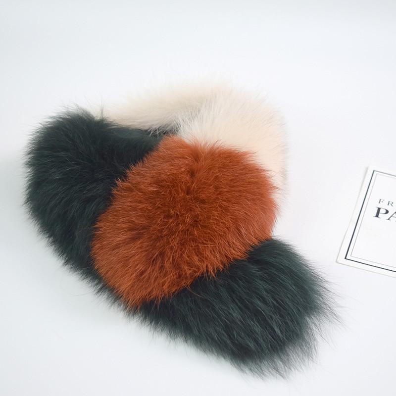 Genuine Fox Fur Scarf Patchwork Multiolor Fur Shawl Clip Fur Collar Women Female Winter Real Fox Fur Pashmina Soft Fluffy Ring