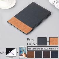Роскошный Магнитный чехол для Samsung Galaxy Tab S6 10 5 дюймов T865 SM-T865 SM- T860 Smart Cover Funda Tablet PU кожаный чехол-подставка