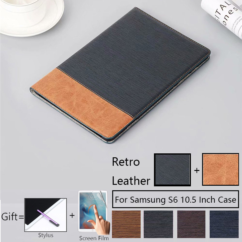 Luxury Magnetic Case For Samsung Galaxy Tab S6 10.5 Inch T865 SM-T865 SM- T860 Smart Cover Funda Tablet PU Leather Stand Shell