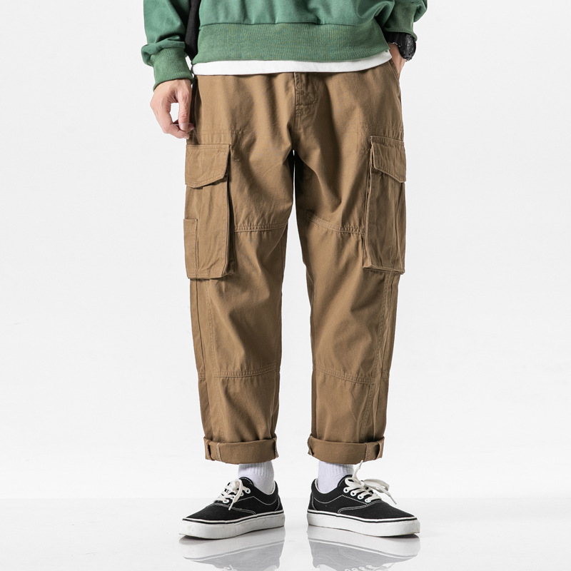 2019 New Style Japanese-style Popular Brand Autumn Casual Pants Men's Loose Straight Trend Bib Overall MEN'S Trousers