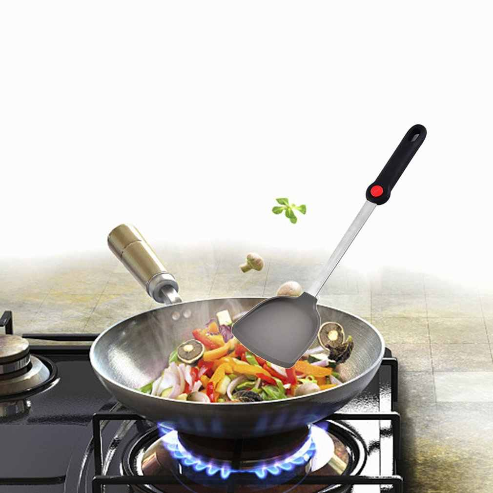 Силиконовая домашняя лопатка для кухни антипригарная специальная лопатка в форме сердца