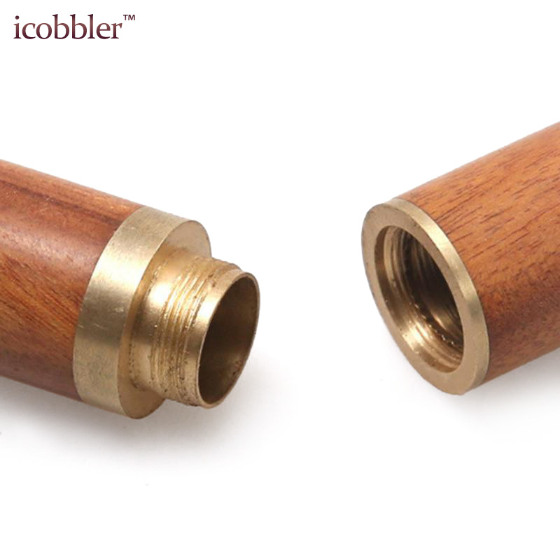 High Quality Sandalwood Brown Needle Storage Sewing Knitting Container Box Barrel Leather Craft Tool Needles Bottler