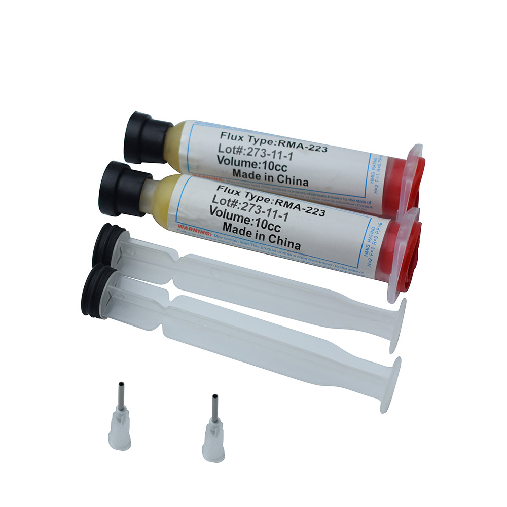 2PCS  High Quality White USA RMA-223  RMA-223-UV NC-559-ASM Solder Flux Soldering Paste  With Free Needle Push Rod