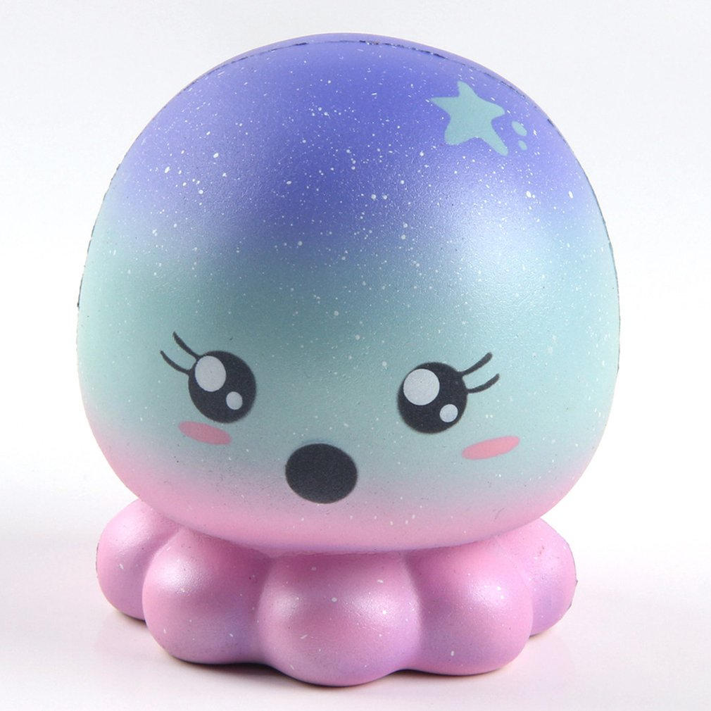Slime Toys Star Octopus Shape Squishy Slow Rising Squeeze Phone Straps Ballchains Decompression Toys Anti Stress Ball Toys
