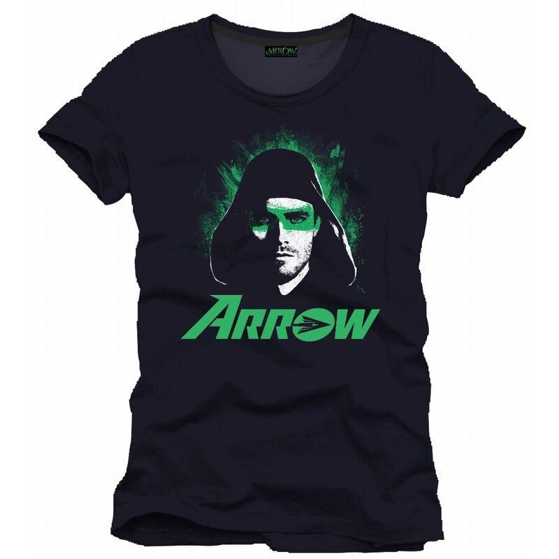 OFFICIAL DOCCOMICS GREEN ARROW (TV SERIES) EYES BLACK T-SHIRT (BRAND NEW)Male Hip Hop funny Tee Shirts cheap wholesale