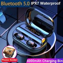 V11 TWS Bluetooth 5.0 Headphones Wireless Earphone 9D Stereo IPX7 Waterproof Earbuds