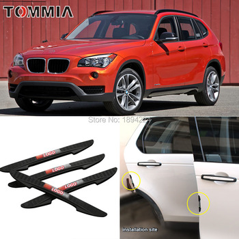 4PCS Car Rearview/ Door Edge Bumper Anti-Collision Guard Strip Protector For BMW X1 image
