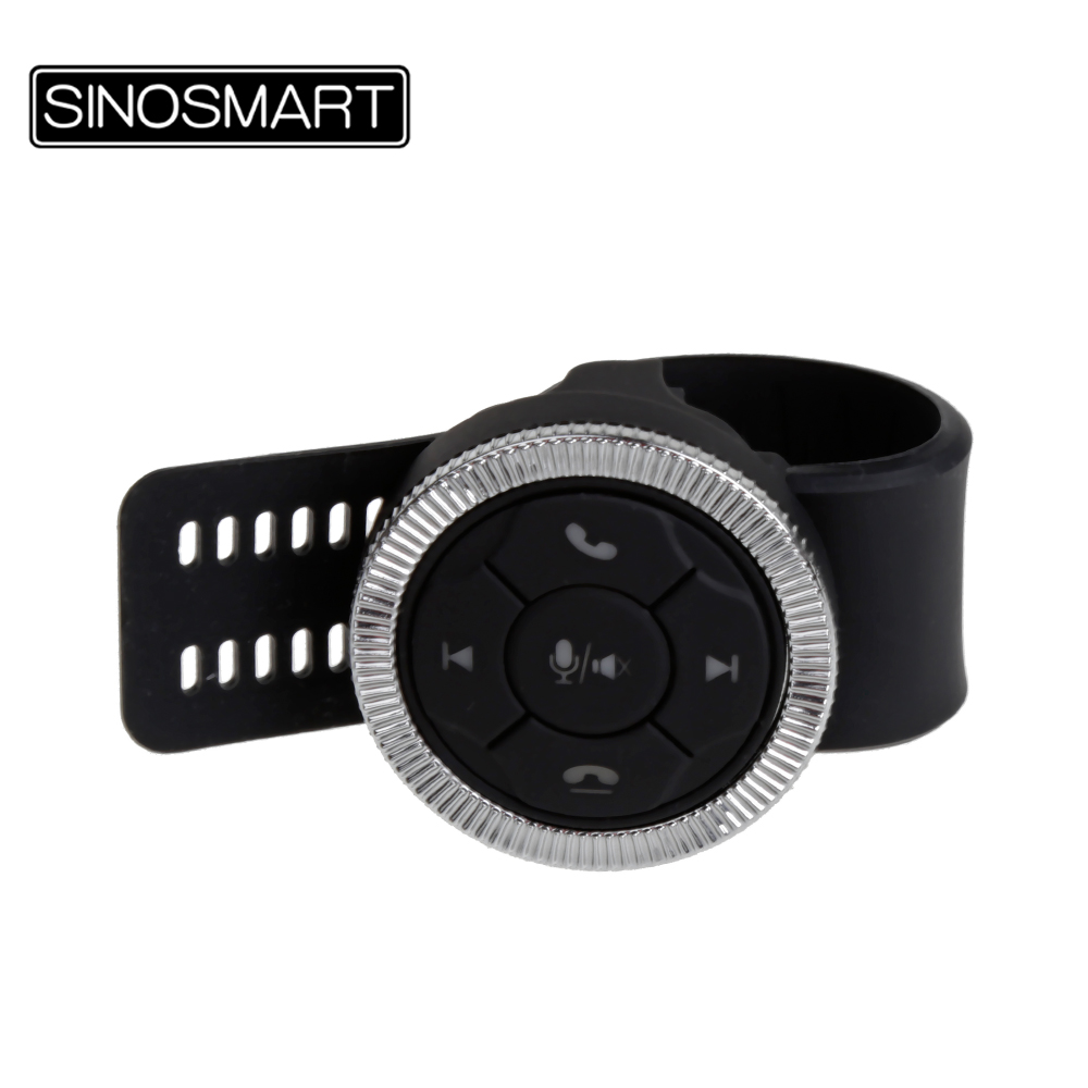 SINOSMART Schlüssel Fernbedienung Tasten SWC w/ LED Universal Smart Auto Lenkrad Controller Wireless für Navigation Player