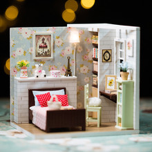 DIY Dollhouse Miniature wooden Doll House With Furniture toy Christmas lovely Gift handmade