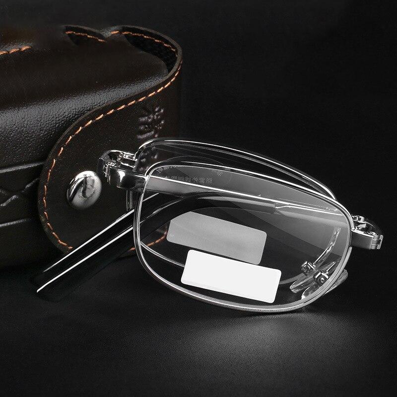 Складные очки для чтения для мужчин и женщин, мужские ультралегкие портативные очки для дальнозоркости с диоптриями + 0,5 0,75 1,0 1,25 1,5 1,75 2,0 до 4,0