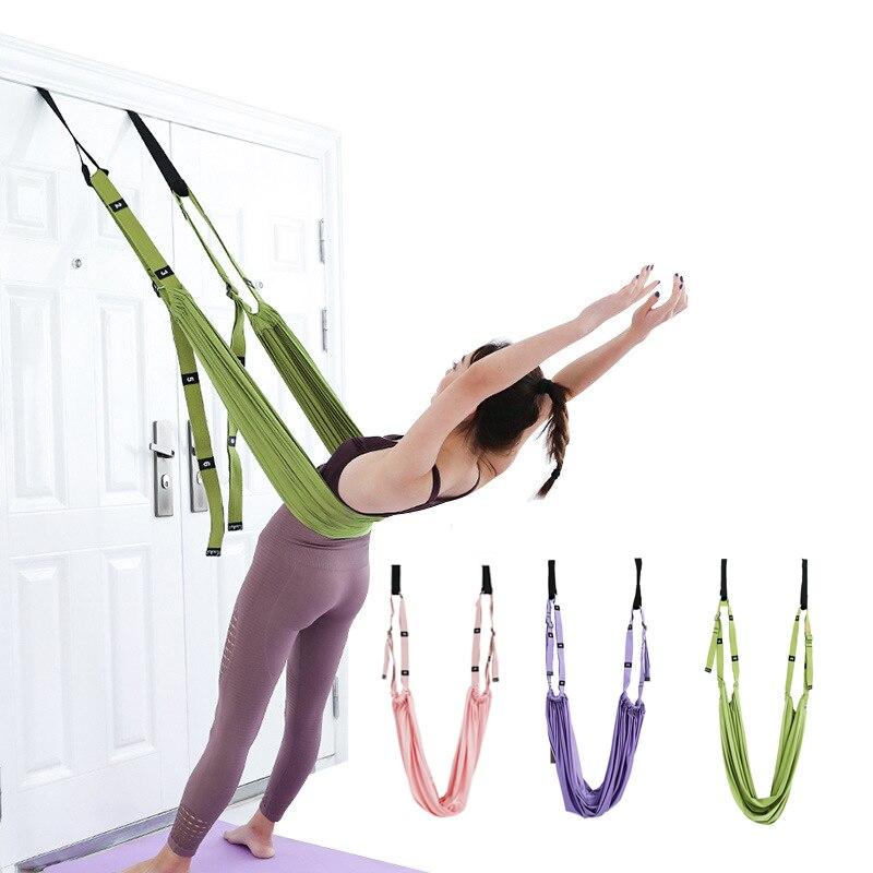 Регулируемый воздушный ремень для йоги гамак качели Растяжка анти-Гравитация Инверсия упражнения многослойный пояс для йоги гибкий тренаж...