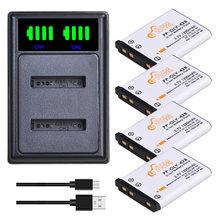 Batteries de caméra numérique, kit de chargeur pour Olympus Nikon Fujifilm Kodak, 1200mAh Li-40B Li40B Li 40B Li-42B EN-EL10 EN EL10 ENEL10
