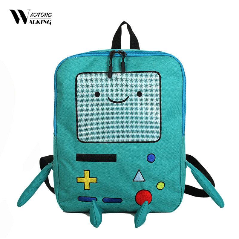 New Cute Cartoon Cute Adventure Time Backpacks Funny Personality Stereo Student Bag Large Capacity Travel Bag Two Size