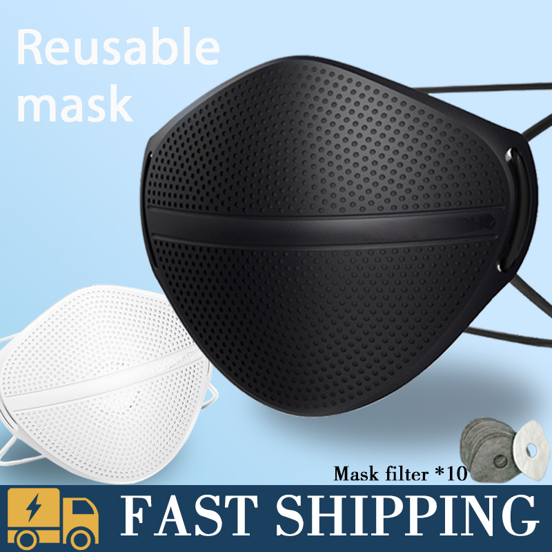 Mask Face Ship In 24 Hours PM2.5 Mouth Nose Disconnect Filter Mask Dust Masks Activated Carbon Patented Mouth Cover 5