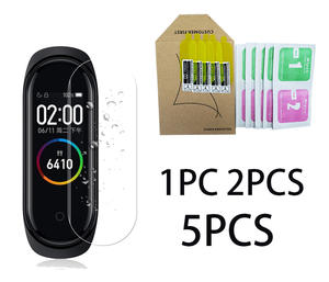 Cover Screen Anti-Scratch-Cover Soft-Protective-Case Hydrogel Mi-Band Hd-Film 4-Case
