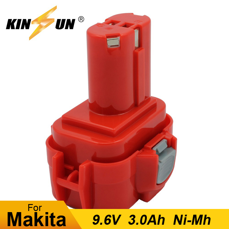 KINSUN Replacement Power Tool <font><b>Battery</b></font> <font><b>9.6V</b></font> 3.0Ah Ni-Mh for <font><b>Makita</b></font> Cordless Drill Screwdriver 9100 <font><b>9120</b></font> 9122 192595-8 192638-6 image