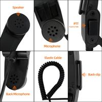 יד מתאם H-250 רמקול ומיקרופון כף יד צבאי מתאם עבור Baofeng Kenwood הווקי-טוקי 2 פיני כתף מיקרופון PTT (5)