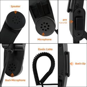 Image 5 - H 250 Adapter Tay Quân Sự Loa Micro Dành Cho Máy Bộ Đàm Baofeng Máy Bộ Đàm Kenwood Bộ Đàm 2 Pin Vai Micro PTT